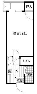 春日ハイツ1号室